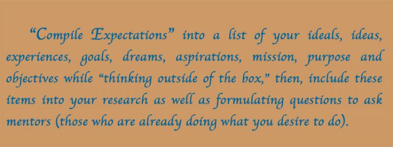 "Think Outside the Box - Part 3 - ""Compile Expectations"" into a list of your ..."