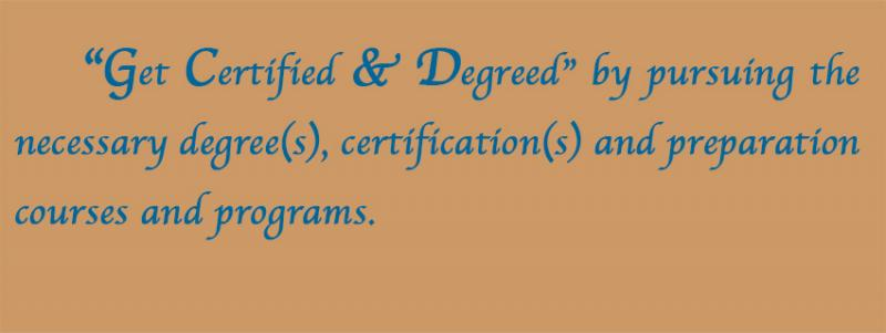 "Think Outside the Box - Part 5 - ""Get Certified & Degreed"" by pursuing the ..."